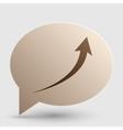Growing arrow sign Brown gradient icon on bubble vector image vector image