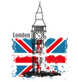 grunge banner - i love london vector image