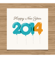 happy new year card 2014 vector image vector image