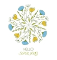Hello spring of a beautiful vector image