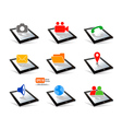 icon tablet pc touchpad display vector image vector image