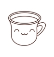 kawaii cup coffee break beverage thin line vector image