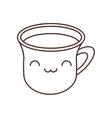 kawaii cup coffee break beverage thin line vector image vector image