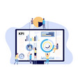 kpi concept key performance indicator marketing vector image