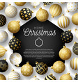 luxury gold merry home christmas 2020 card vector image