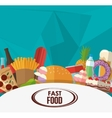 menu and fast food design vector image