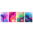 metallic modern gradient active mixed gradient vector image vector image