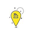 navigation icon design vector image vector image
