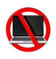 no laptop area vector image vector image