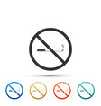 no smoking sign isolated cigarette symbol vector image