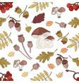 nut landscape autumn nature seamless pattern vector image vector image