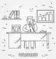 Office man Business man Thin line icon for web an vector image vector image