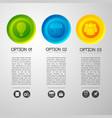 option pictograph buttons background vector image vector image