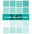 pack of 16 turquoise seamless patterns abstract vector image vector image