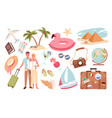 people and travel summer vacation set holiday vector image vector image