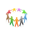 people around a circle vector image
