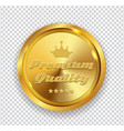 Premium quality golden medal icon seal sig