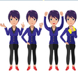 Present Character Cartoon Woman Worker vector image