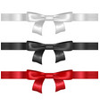 realistic detailed 3d bow set vector image vector image