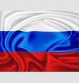 realistic russian flag symbol satin drape vector image vector image