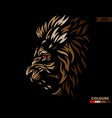 red eye lion brown version vector image vector image