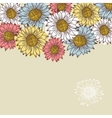 seamless vintage ornament with sunflowers vector image vector image