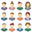 set business avatar office employees isolated vector image vector image