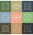 set hipster emblems and badges vector image vector image