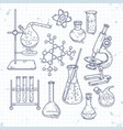 sketch set of various devices for chemical vector image vector image