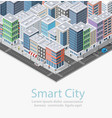 smart city isometric vector image