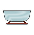 snow sled isolated icon vector image