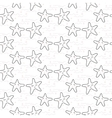 Star stylized line fun seamless pattern for kids vector image vector image
