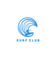 surf player man and wave logo designs inspiration vector image vector image