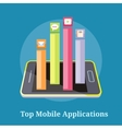 Top Apps Mobile Applications vector image vector image