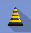 transportation cone icon flat style vector image vector image