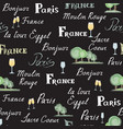 travel france tile background paris city seamless vector image vector image