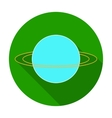 Uranus icon in flat style isolated on white vector image vector image