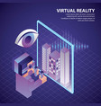virtual reality isometric vector image