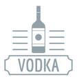 vodka logo simple gray style vector image vector image