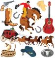 wild west clipart icons vector image