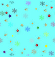 winter seamless colorful snowflake pattern vector image