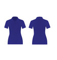 women blue polo t shirt vector image