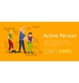 Active fitness person man and woman workout in gym vector image