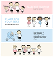family with children banners vector image