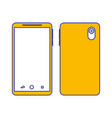 smartphone gadget didigtal front and back view vector image