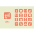 Set of selfie simple icons vector image