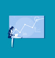 a businesswoman working on graph concept vector image vector image