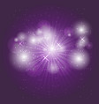 abstract ray light on violet background vector image vector image