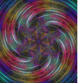 Abstract shiny fractal spiral design background vector image vector image