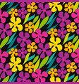 abstract simple flowers seamless pattern vector image